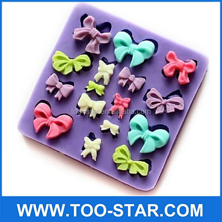 Bowknot Shaped Silicone Baking Bánh Sôcôla Kẹo Cookie Molds