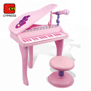 musical toys electric keyboard set baby grand piano with microphone and chair
