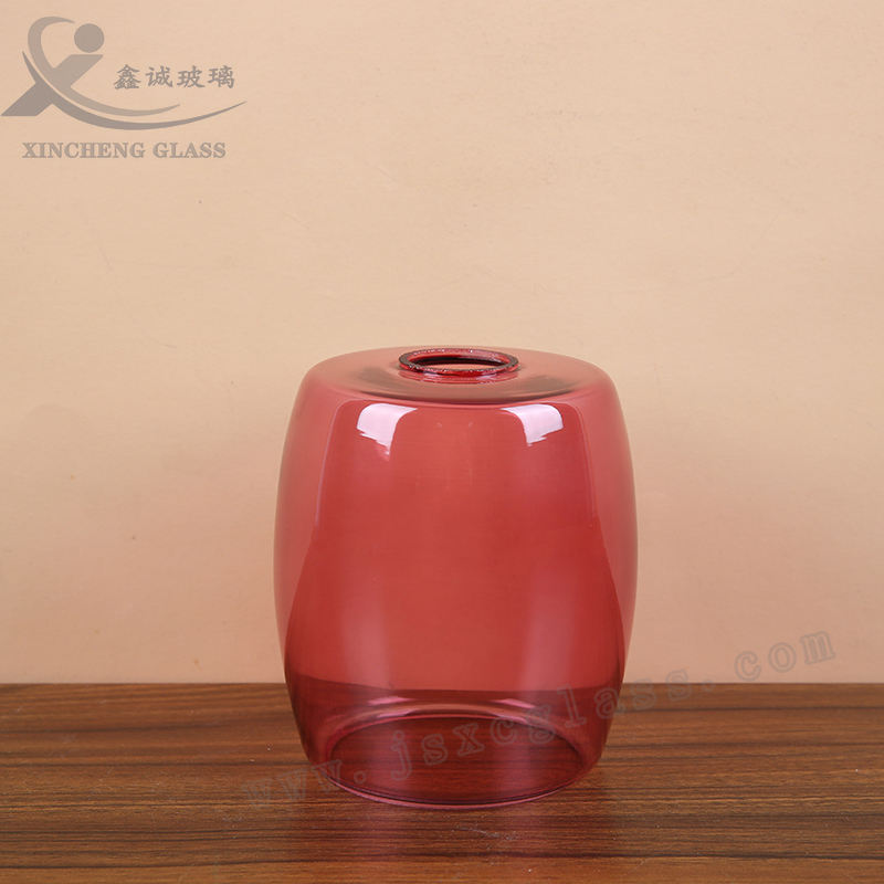 Pink Coated Glass Modern Household Lampshade Lamp Base