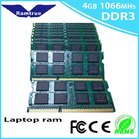 NEW brand 4GB PC8500 Laptop SoDimm Memory DDR3 RAM 1066MHz 4GB DDR3 PC3-8500 1066 204 Pin 4G memory Free