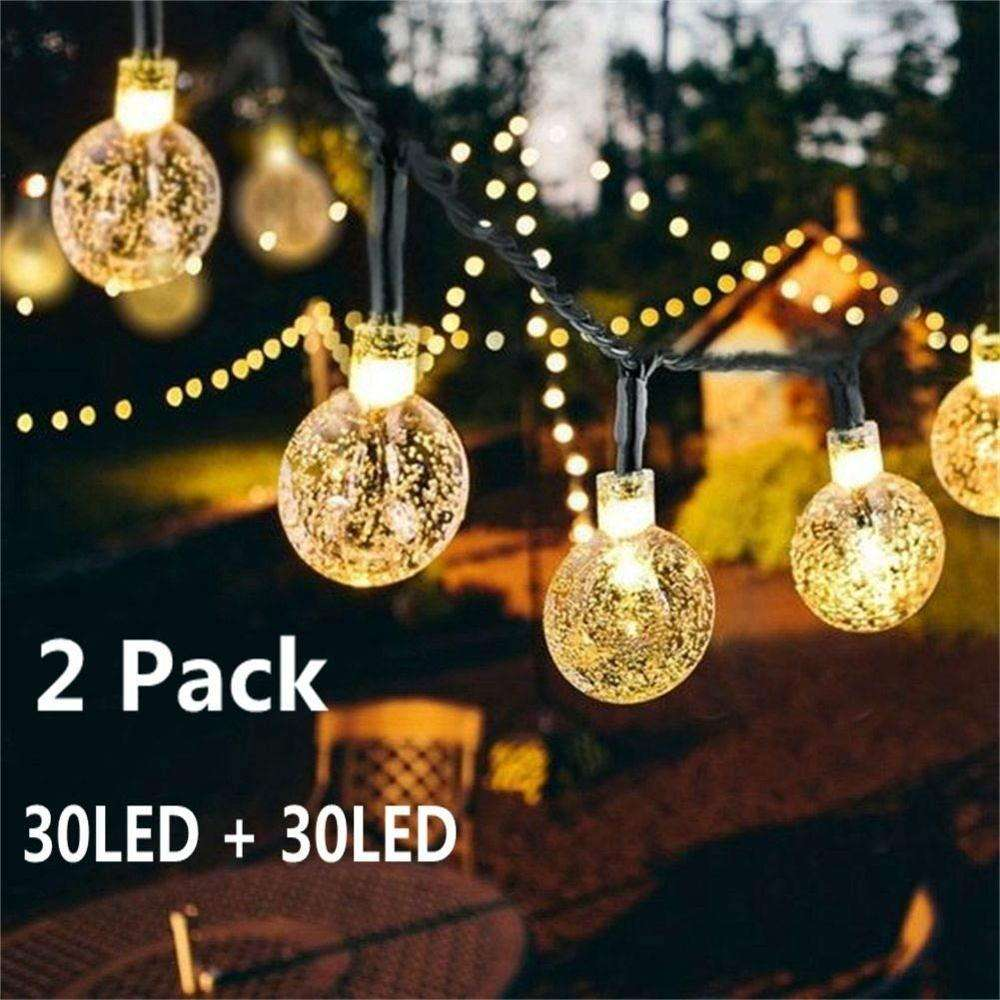 Cixi Landsign solar string lights series 6.25m 30 leds outdoor christmas laser light for holiday/home/garden/party decorations