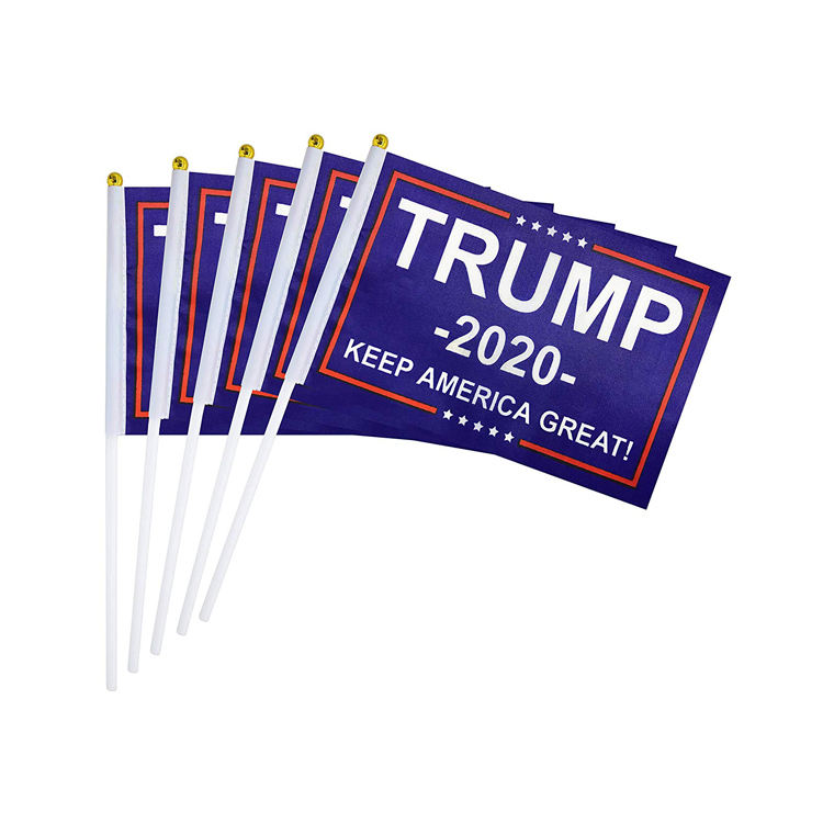 Donald Trump Flag for President 2020 Keep America Great Flag Small Mini Hand Held Flag