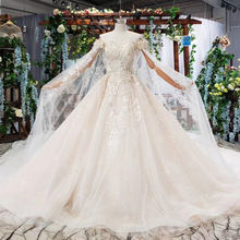 Jancember HTL588 2019 new design appliques off shoulder suzhou love season fashion wedding gown