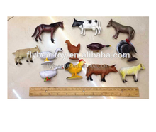 12pcs PVC plastic farm animal cartoon figure toy 3D plastic toy