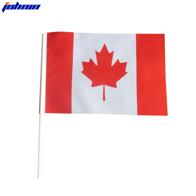 OEM Services Logo Customised Plastic Flag with Sticks