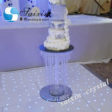 Beautiful decoration crystal cake stand party supplies