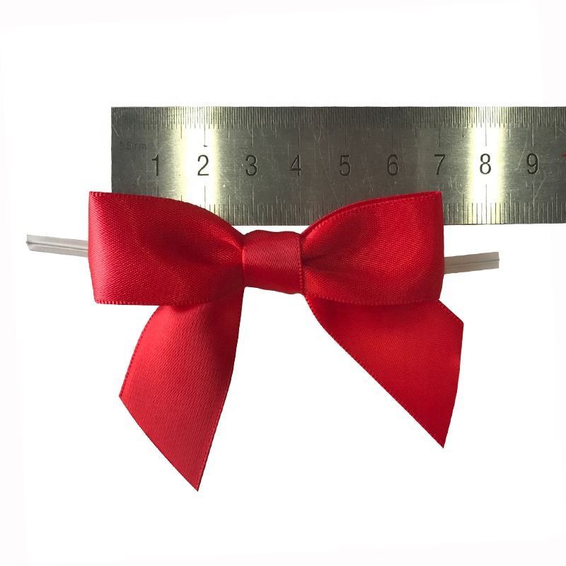 Custom Satin And Grosgrain Ribbon Bows With Wired Twist Tie, twist tie with bow