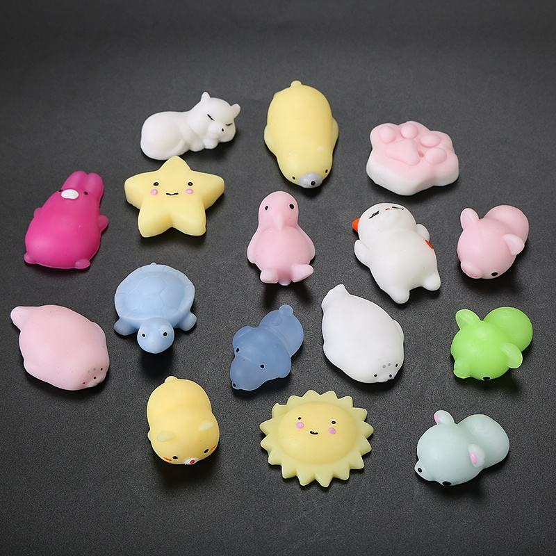 CE EN71 Fashion Stretchy Anti Stress Relief Custom Animal Unicorn Cat Set Soft Capsule Toy Squeeze Kawaii Toys Mochi Squishy