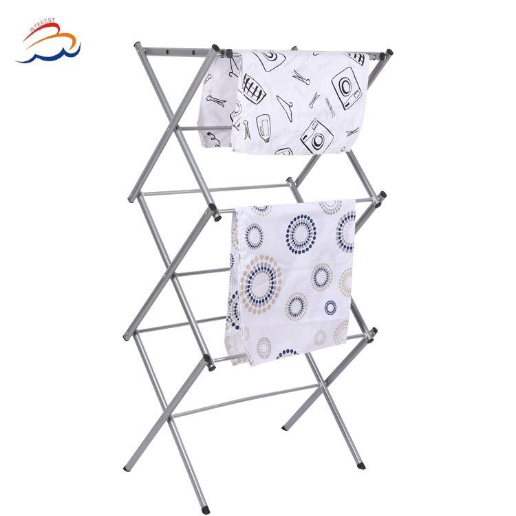 Stainless Steel Clothes Drying Rack Cloth Dryer Hanger Stand Folding Laundry Rack