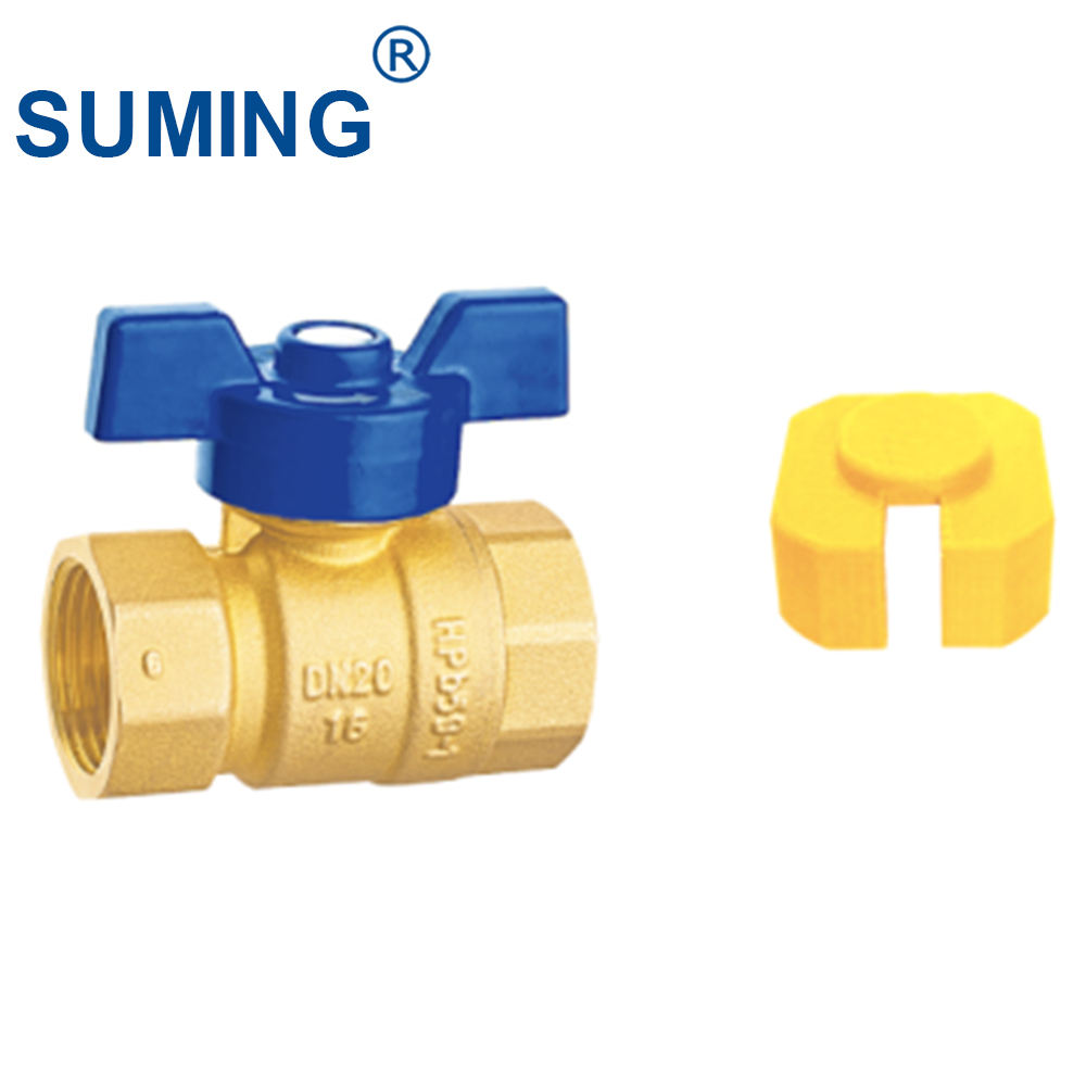 SUMING Brass ball valve with magnetic lock