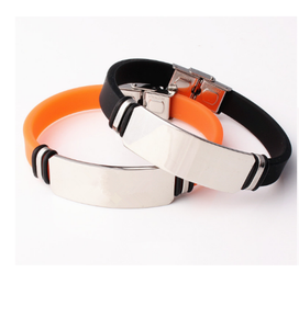 Men/Women Wristbands,Stainless steel silicone bracelet