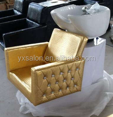 2017 Classic European Style 5 Year Warranty Gold&White Backwash Shampoo Unit
