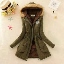 Coldker 2018 New Parkas Female Women Winter Coat Thickening Cotton Winter Jacket Womens Outwear Parkas