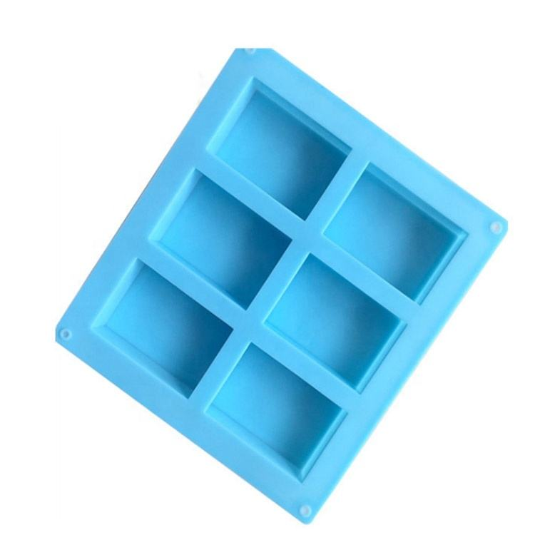 MARCH EXPO Amazion Hot Selling Customized Eco Friendly Rectangle 6 Cavity Silicone Soap Mold