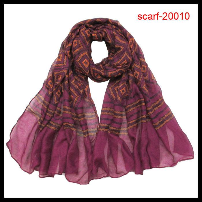 最も人気の紫2014年デジタル印刷されたヘッドスカーフ