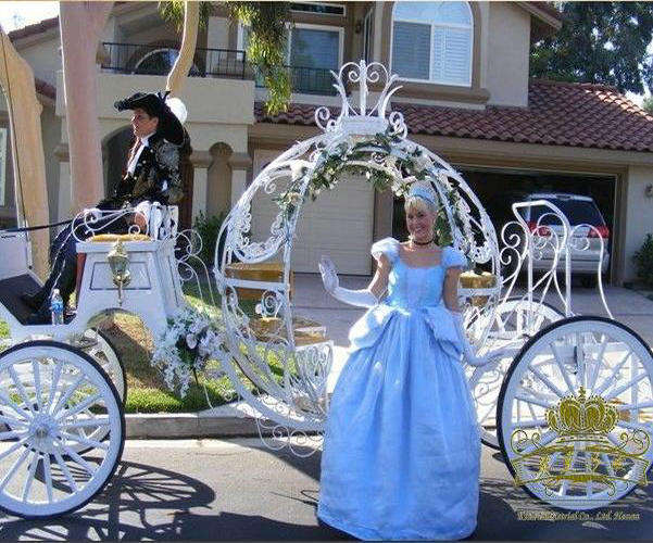 4Wheeled Pumpkin Horse carriage Wedding