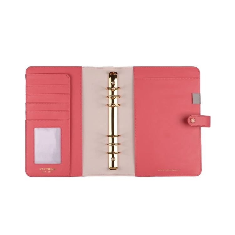 Happy Personalized Luxury Năng Suất 6 Vòng Binder Leather Planner