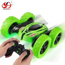 Remote Control 360 Degrees Rotate Double Side RC Stunt Car Toy Electric Rock Crawler High Speed Car for Kids