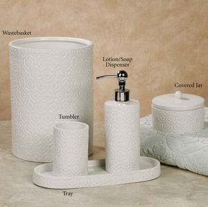 White Home Ceramic Bathroom Accessories Set