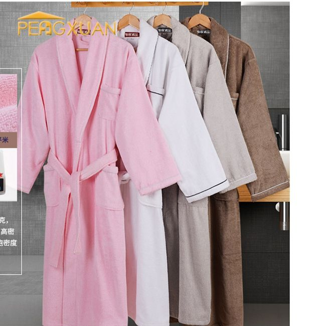 china wholesale high quality White Color Hotel 100% cotton towel bathrobe