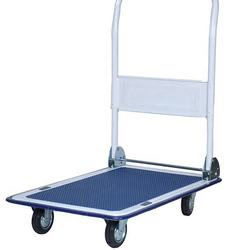 HT-150S 150kg logistic stainless steel platform hand truck, manual trolley