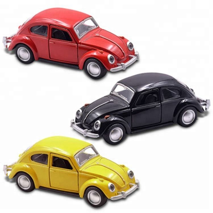 MINI AUTO Model Toy alloy Car 1/36 Scale Vintage Convertible Pull Back Alloy Metal Flashing Musical Model Classic Cars Kids Toys