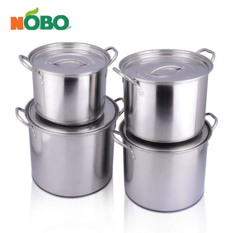 Wholesale Bulk Kitchen Large Soup Stock Stainless Steel Cooking Pot with Lids