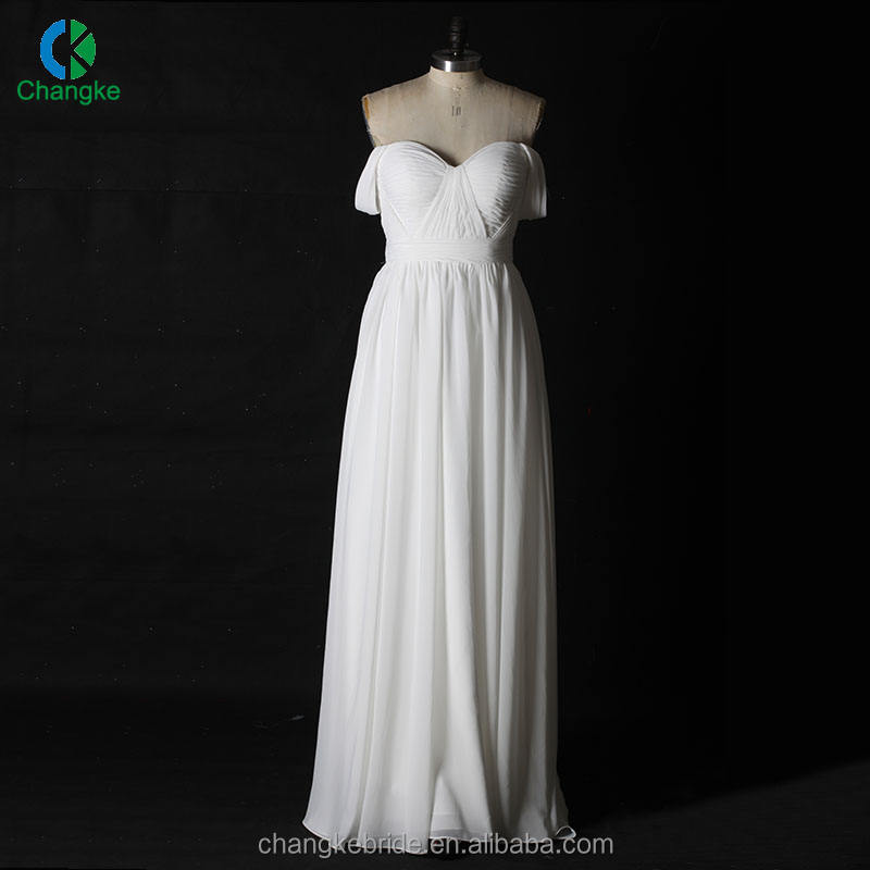 Breathable Boat Neck Long Sleeve Off Shoulder White Sexy Lace Evening Dress