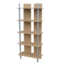 JUSTHOME 5 tiers simple wood metal bookshelf ladder shelf bookcase for home office decorative