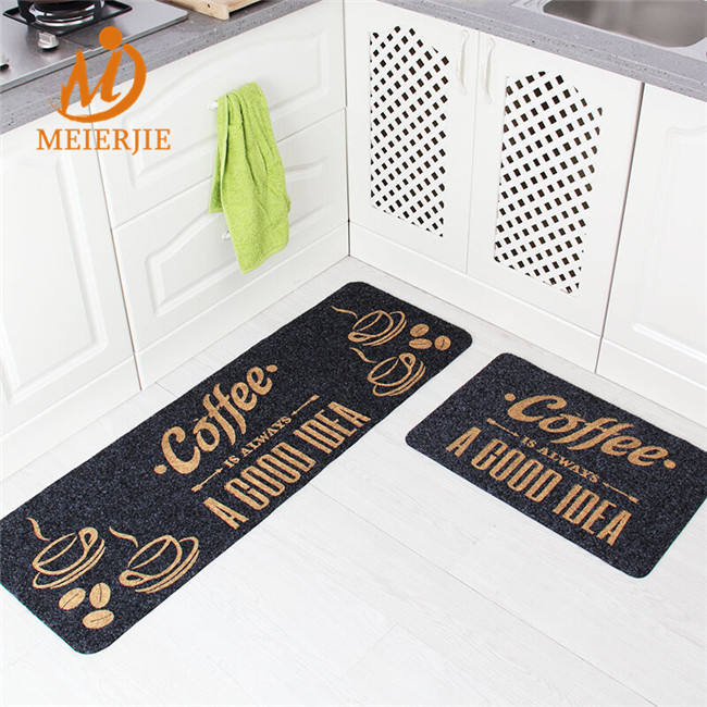 door mat with pvc backing,waterproof bath mat PVC anti fatigue kitchen mat