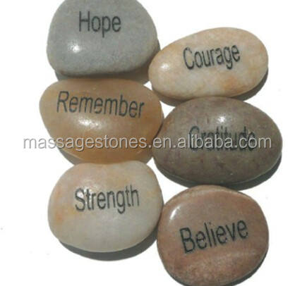 Natural River stone crafts Engraved Words Pebble Stone