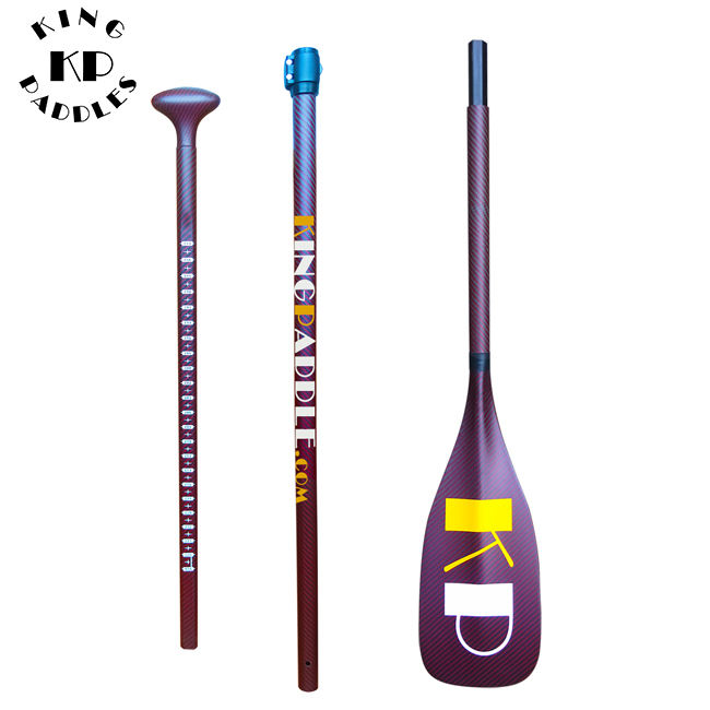 Kingpaddle In Fibra di Carbonio 3 pezzo Anti Torsione SUP Paddle Per Gonfiabile Stand Up PADDLE board