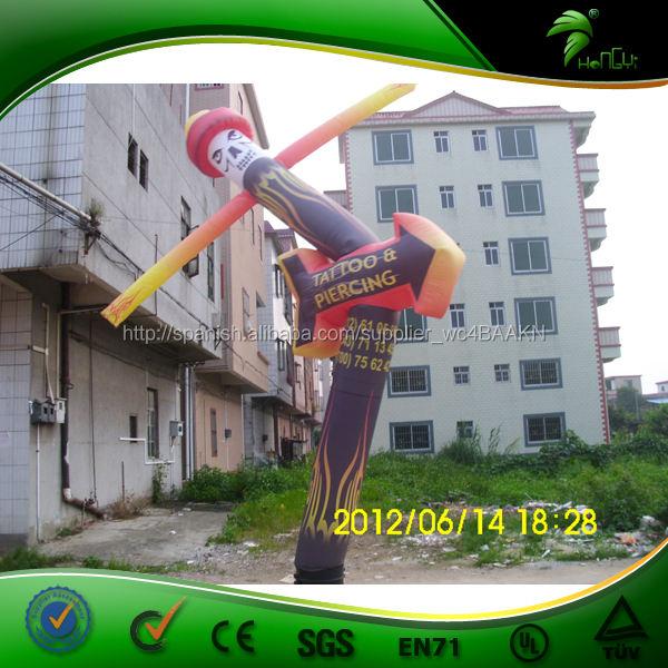 Barato atractivo de encargo de aire inflables payaso modelado bailarín