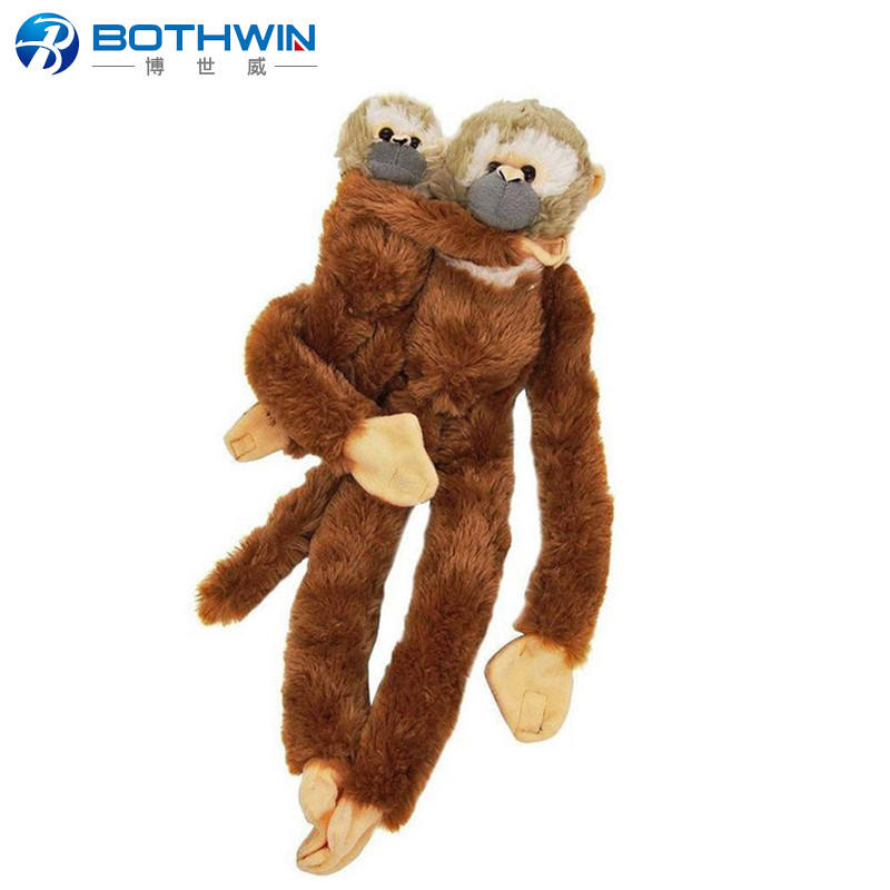 "Custom Wild Animal Long Arms 20"" Hanging Squirrel Monkey Baby Soft Plush Toy"