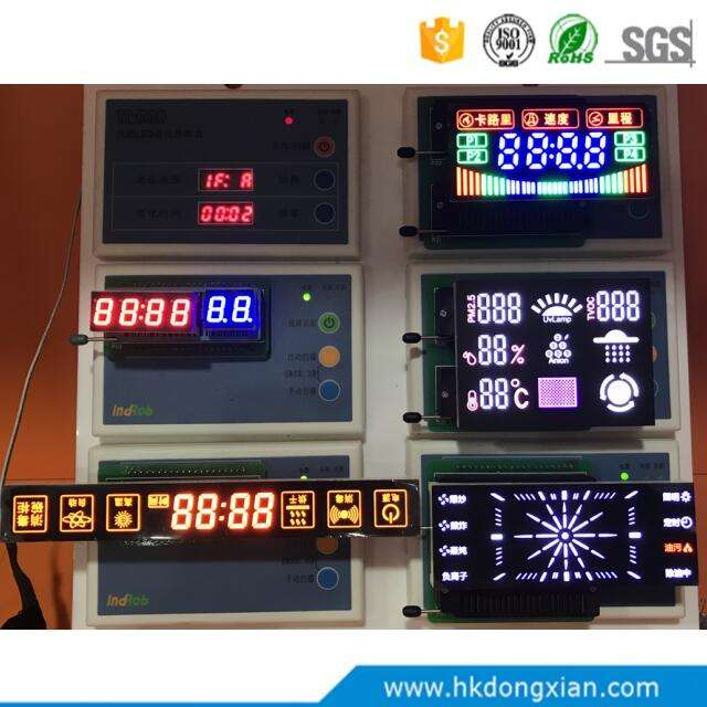 China Factory OEM ODM Custom 7 Segment LED Digit With Icon Tube Display