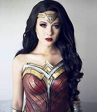 Hot Sale Cosplay Justice League Diana Lace Front Wig Natural Wave 100% Brizilian Human Hair Natural Color