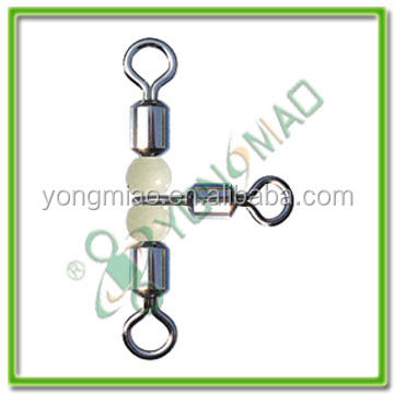 CROSS LINE ROLLING SWIVEL WITH LUMINOUS BEADS fishing tackle accessories