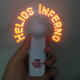 LED Smart Mini Fan Customized LED Messages and Logo Printing Good for Business Marketing Promotion