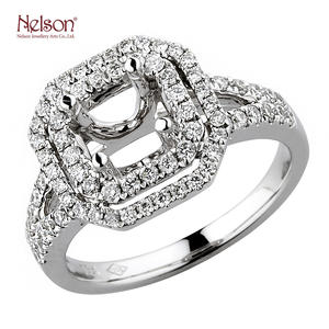 Manufacturer 18K White Gold 18K Yellow Gold 18K Rose Gold Engagement Illusion Diamond Luxury Ring Mount