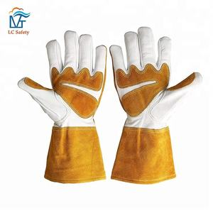 Planting Work Protective Goatskin Leather Gardening Gloves