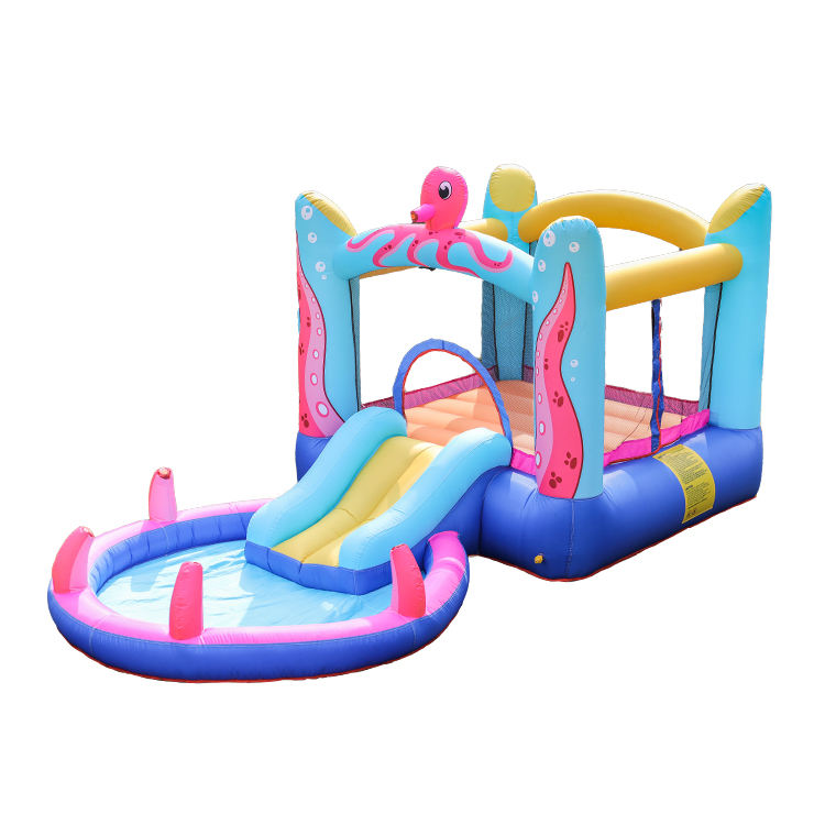 Commercial Inflatable Water Slide Clearance Bounce House Obstacle Course Sale, New Big Bouncy Castle for Girls