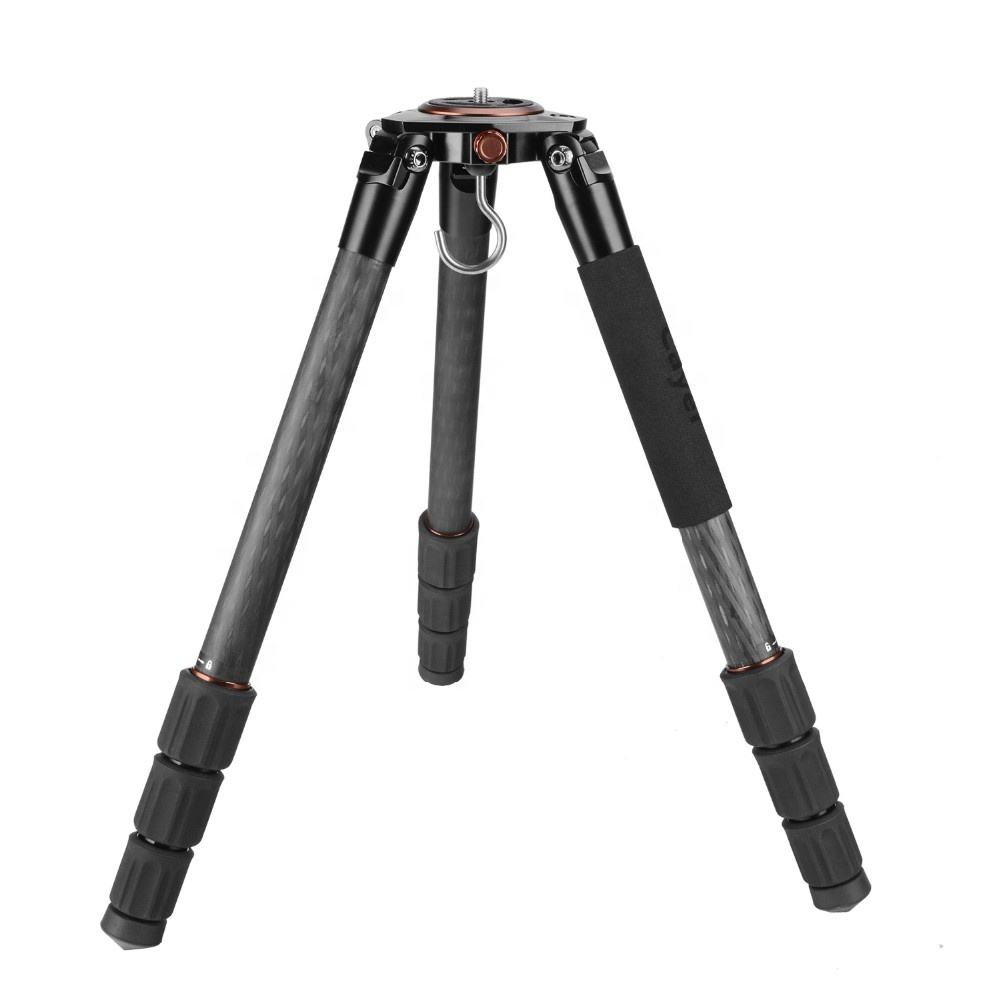 162cm Professional Heavy Duty Carbon Fiber Video Camera Tripod with 75mm Ball and Flat Base Adapter