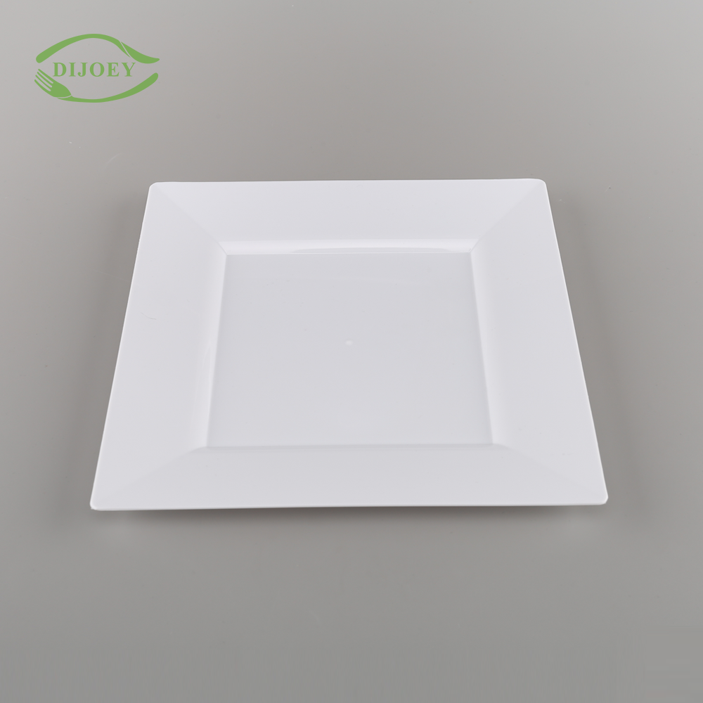 Direct factory wholesale disposable party weddings serving cheap kitchen restaurant plastic dish dinner plate