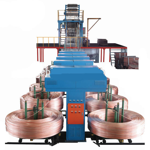 Shanghai SWAN upward process Oxygen free copper rod continuous casting machine2000ton year capacity