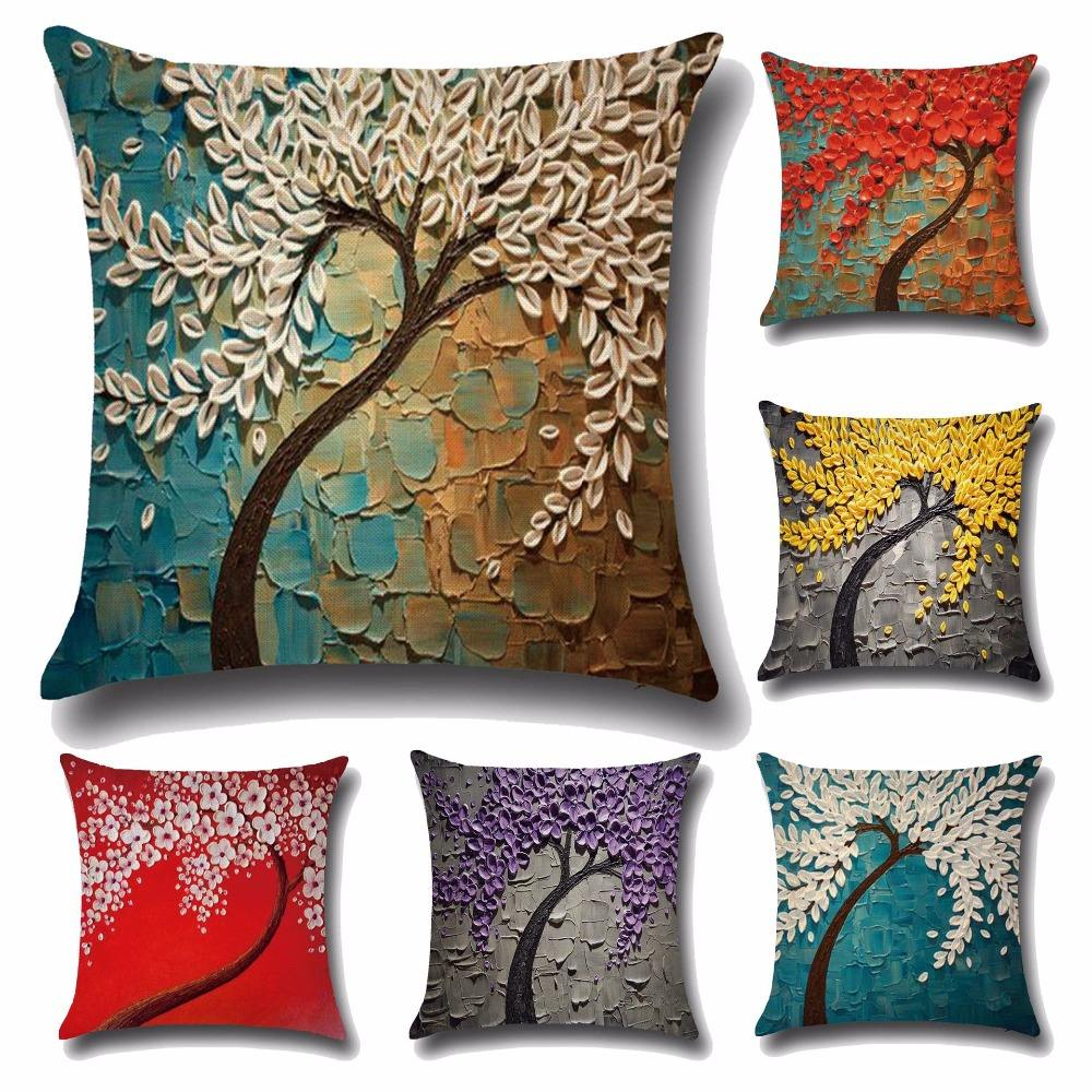 Pillow Covers Wholesale Fancy Latest Design 3D Painting Throw Pillowcase Soft 18x18 in 45x45 cm Square Couch 3D Cushion Cover
