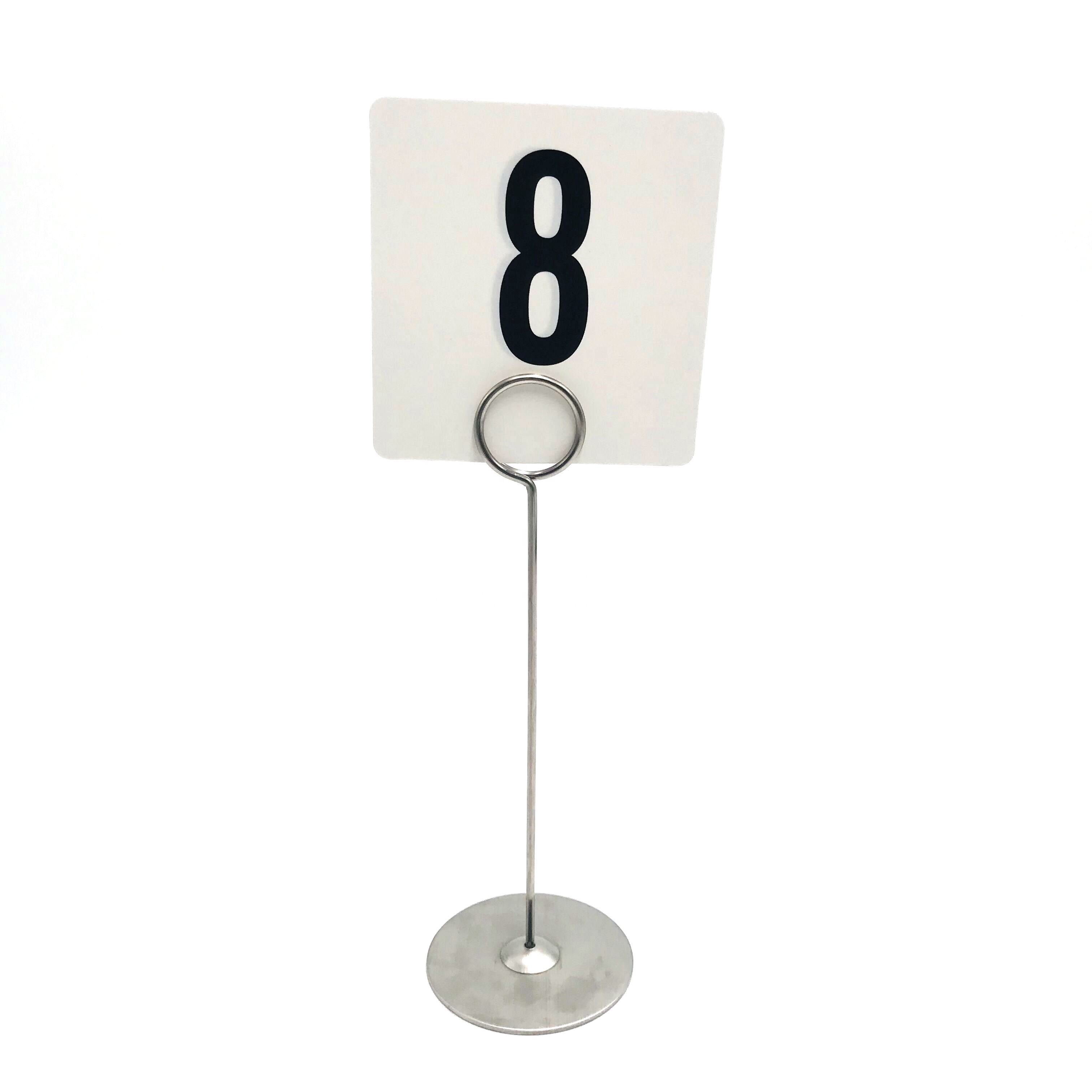 Stainless Steel Name Card Pop Menu Table Number Sign Place Card Holder Wedding Metal Table Floor Welcome Display Sign Stand