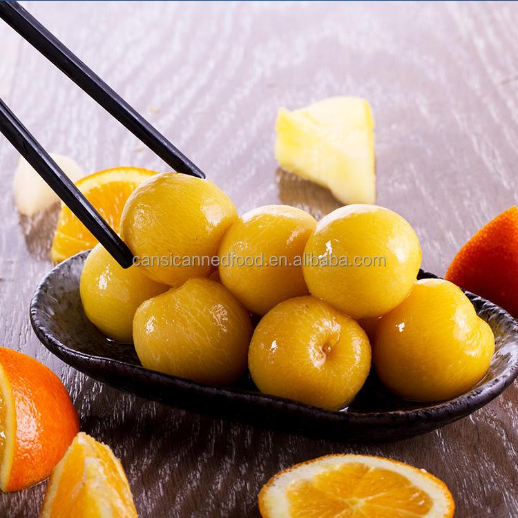 缶詰食品錫メッキプルーンフルーツでライトシロップ