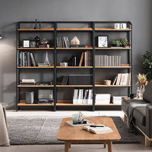 Modern living room home furniture wood shelf, metal wood cabinet bookshelves divider, library book shelf bookcase