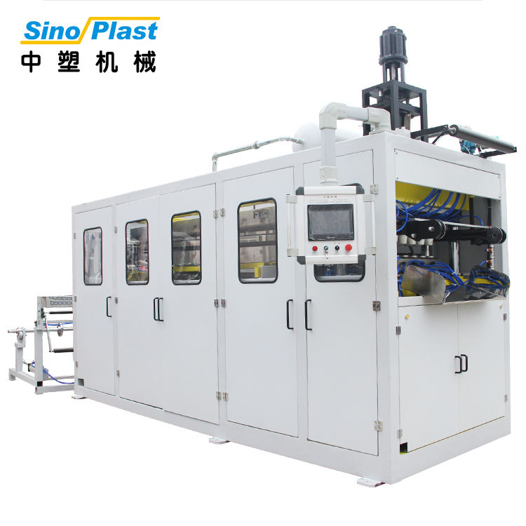 SINOPLAST Cam Driven Disposable Plastic PET Cup Making Forming Thermoforming Machine