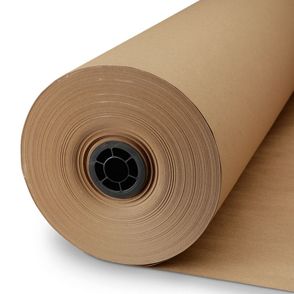 "Fulton 18"" x 175' USA MADE Printed Pink kraft Butcher Paper Roll For Smoking BBQ Meats & Brisket"